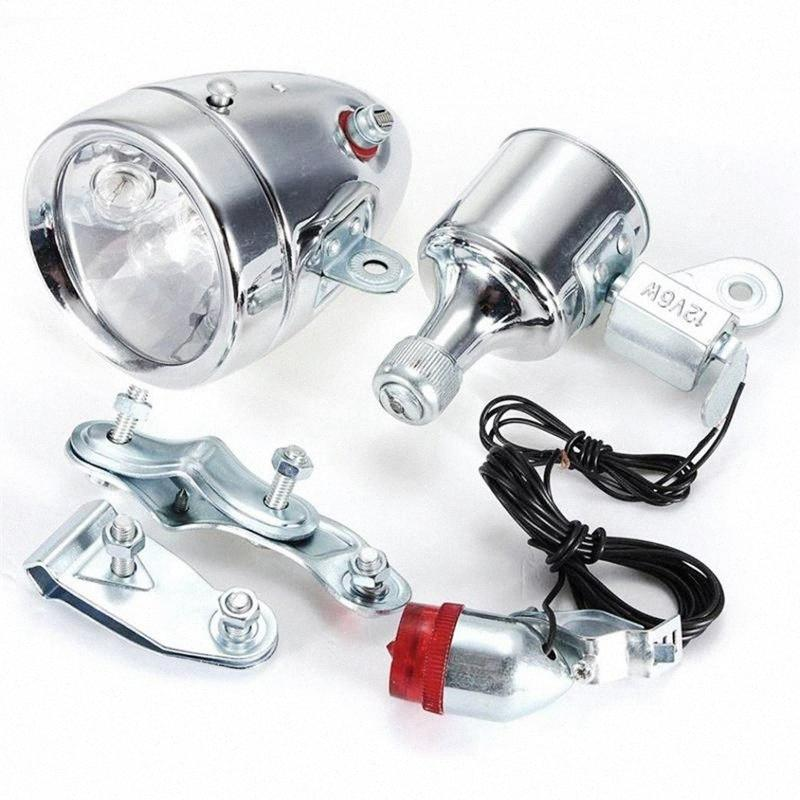 Cycling Dynamo Powered Headlight and Rearlight Bike Tail Light Bike Light Set Dynamo-Powered Ig85#