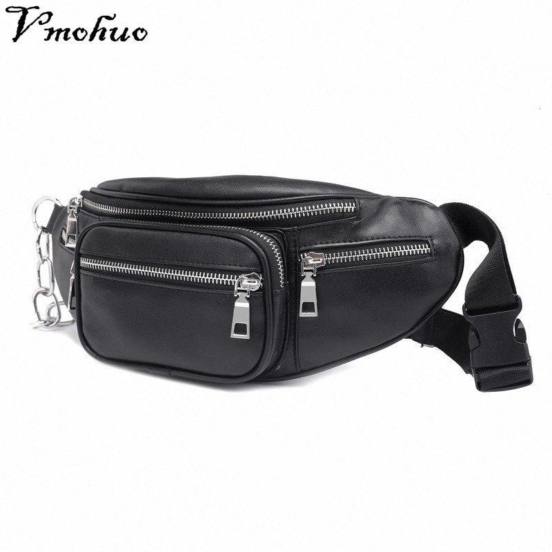 VMOHUO Zipper Bolsa de Cintura Saco Unisex PU ombro de couro Peito Bolsa Crossbody Bag Big Capacidade senhoras bolsa Fanny cintura Packs pBzp #