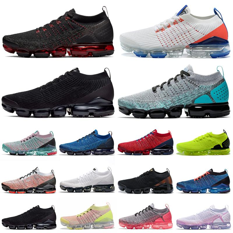 nike air vapormax 3.0 flyknit vapors max vapor Negro de zapatillas para hombre blanco gris triples Volt para mujer de las zapatillas de deporte al aire libre entrenadores