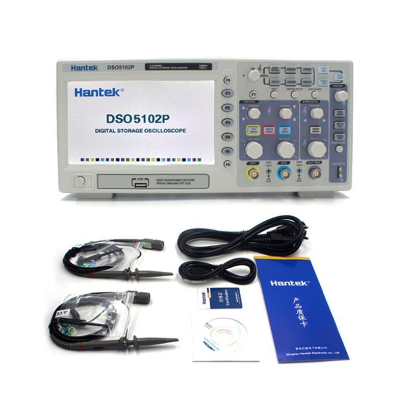 Hantek DSO5102P Цифровой осциллограф 100MHz 2Channels 1GSa / с Длина записи 40K USB Osciloscopio Переносные осциллографы