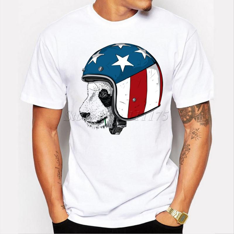2019 New Arrival engraçado Pandy desgaste dos homens design do chapéu da camisa Cool Fashion T Tops manga curta Tees T220