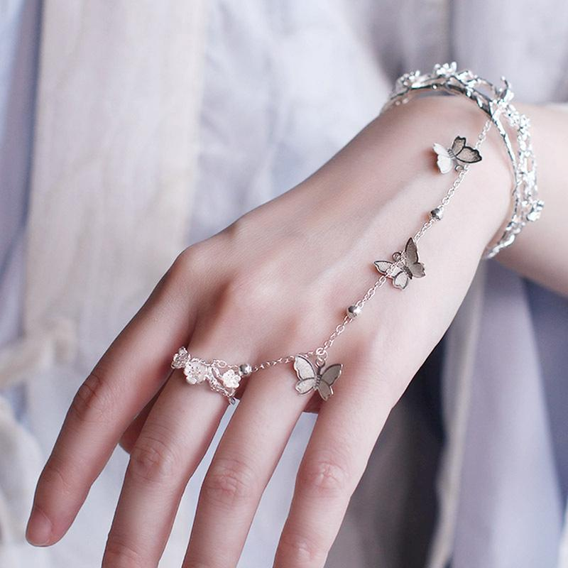 Античный стиль Белл Браслет китайский Одежда ручной ювелирные изделия Китайский- Стиль Белл ретро аксессуары Регулируемый браслет