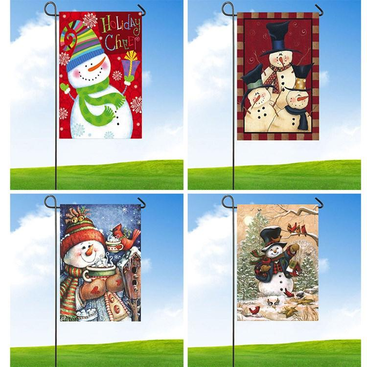 Рождество флаг флаг снеговика Сад Флаги двор счастливый Новый год двор открытый Баннер Флаги 47 * 32см 4style T2I51439