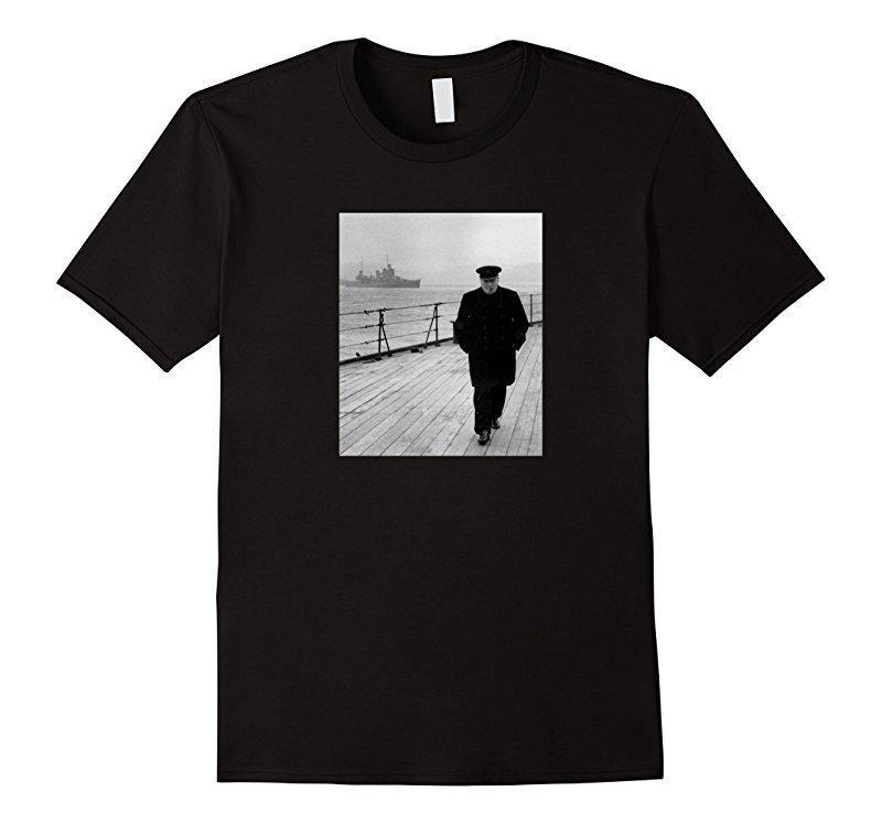 Winston Churchill At Sea - Ww2 T-Shirt Marken-Hemd-Druck-Qualitäts-neue Hipster heiße Verkäufe Sommer-Art-