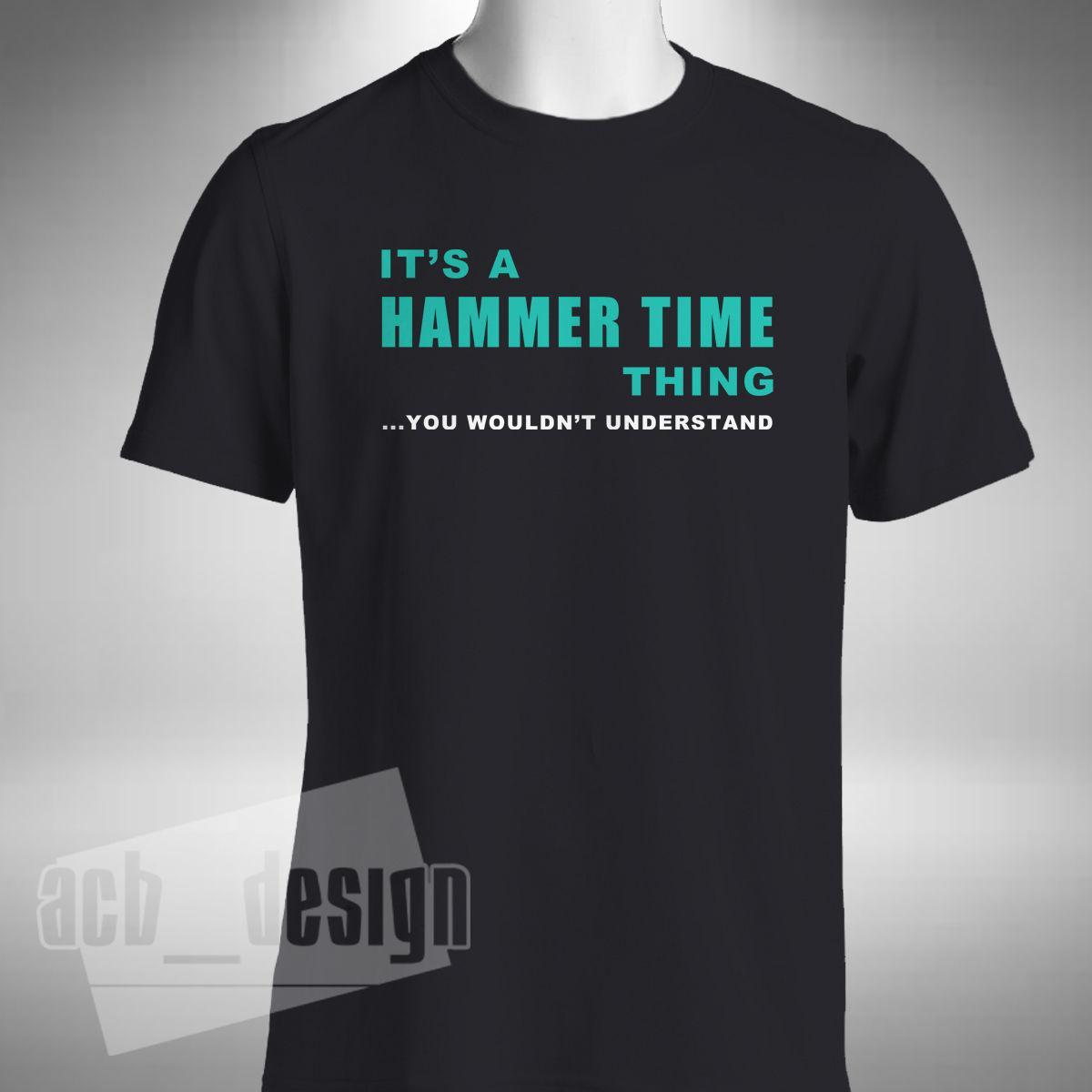 2019 nouvelle mode T-shirt Il est une chose HAMMER TIME T-shirt homme Hamilton Numéro 44 T-shirt d'été