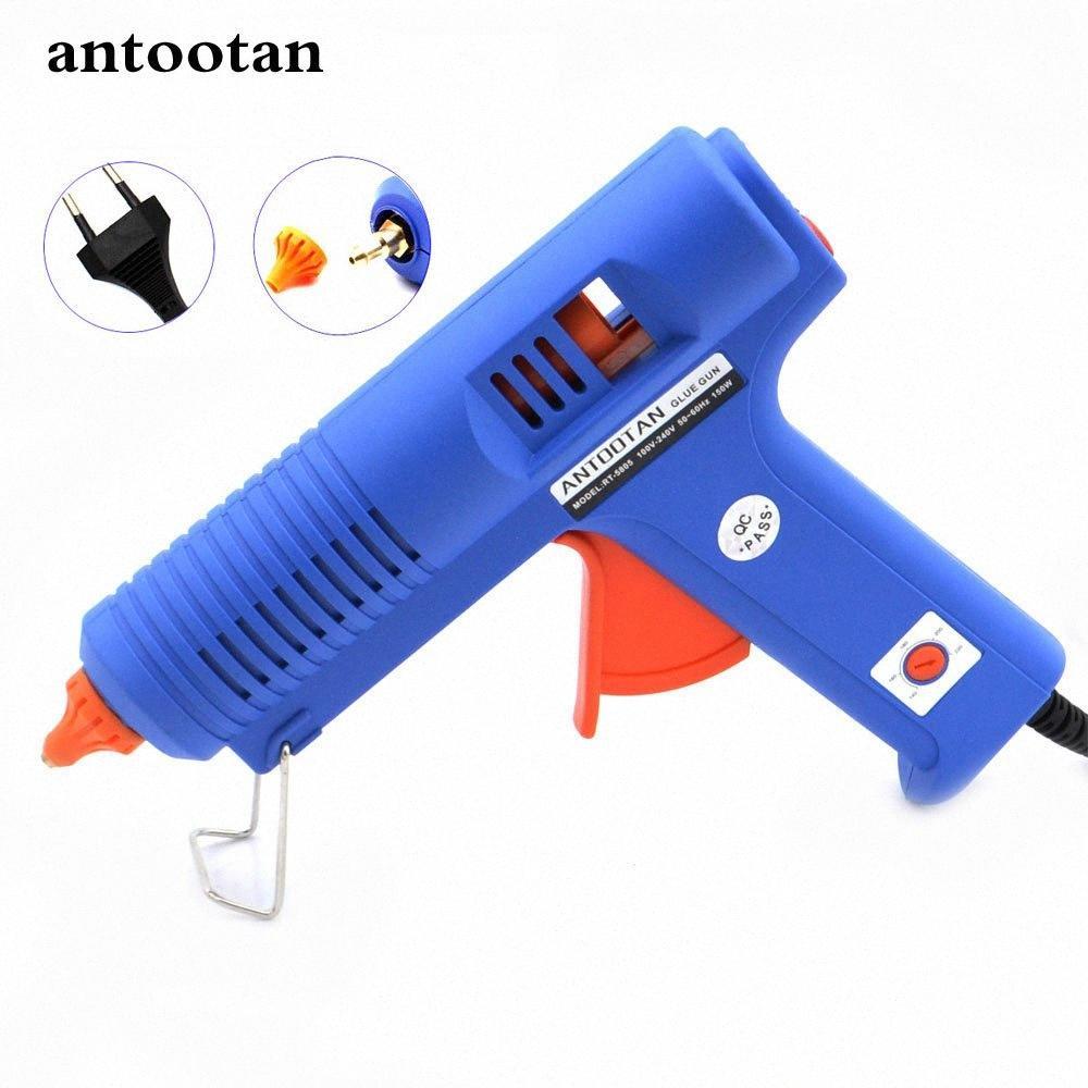 150W EU-Stecker BULE Hot Melt Klebepistole mit Temperatur Werkzeug, Industrie Guns Thermo Gluegun Repair Free 1pc 11mm-Stick uJnb #