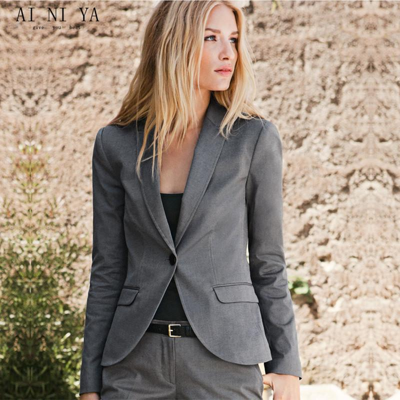 Women Pant Suits Grey Women Ladies Custom Made Business Office Tuxedos Jacket+Pants Fashion Suits