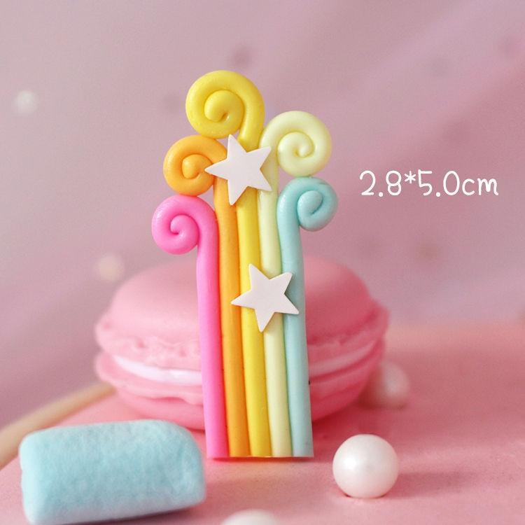 10 und accessories50 Wolken Sterne Regenbogen Kuchen dekorative Süßigkeiten Farbe weiche Keramik-Plug-in 10 Ornamenten und ornamentsaccessories50 Wolken sta