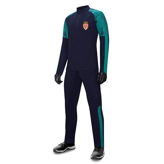 Association Sportive de Monaco FC Uomo Bambini all'ingrosso tuta sportiva di calcio di calcio Imposta Giacca manica lunga preparazione invernale caldo Sportswear