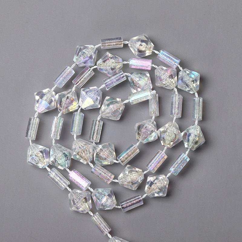 Catena 24meters albero di Natale decorato diamante Tubo branello acrilico Bead Strand per Wedding Xmas Tree Decor accessori fatti a mano gioielli