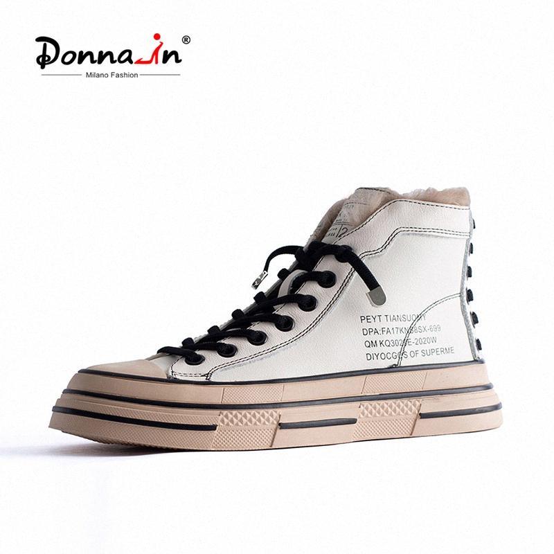 Donna Em couro de vaca High Top Mulheres Winter Sneakers Fur Cruz Amarrado Senhoras calçados casuais alfabeto Lace Up Black White zJ3L #