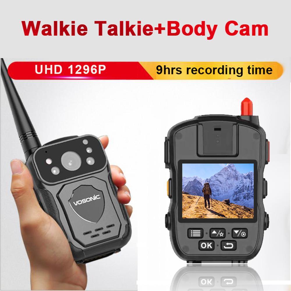 1296p 34MP 9hrs وقت تسجيل HD السيارة جسم الكاميرا الحديث راديوهات Talkier راديو DVR إنترفون مسجل الشرطة مصغرة البالية كاميرا الفيديو كاميرا