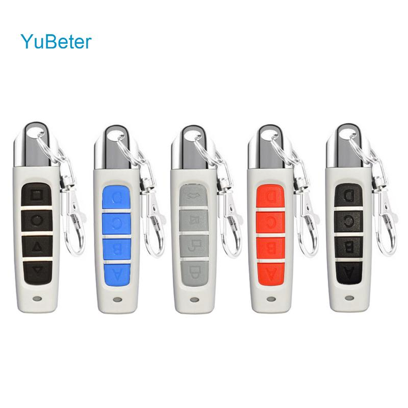 YuBeter 433MHZ Remote Control ABCD 4 Buttons Clone Wireless Garage Door Opener Copy Controller Car Key