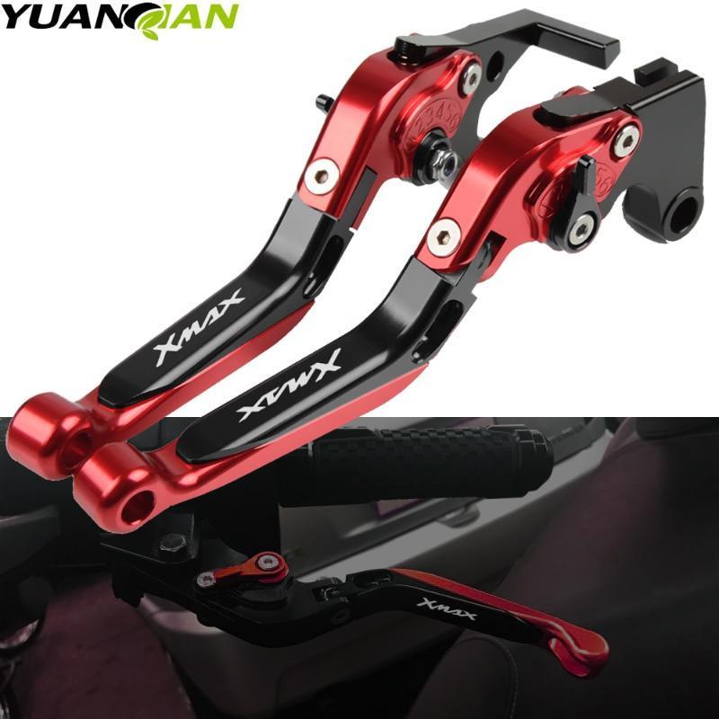 Accesorios de motos extensible ajustable de la manija plegable palancas de freno Palanca de embrague Para XMAX XMAX 125 200 250 400