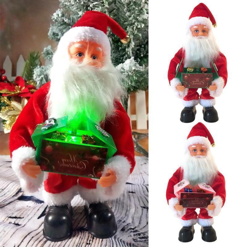 Decor presente enfeite de Natal Leve Simplicidade Caixas Hot venda simulada Papai Noel boneca Xmas with Music Xmqb