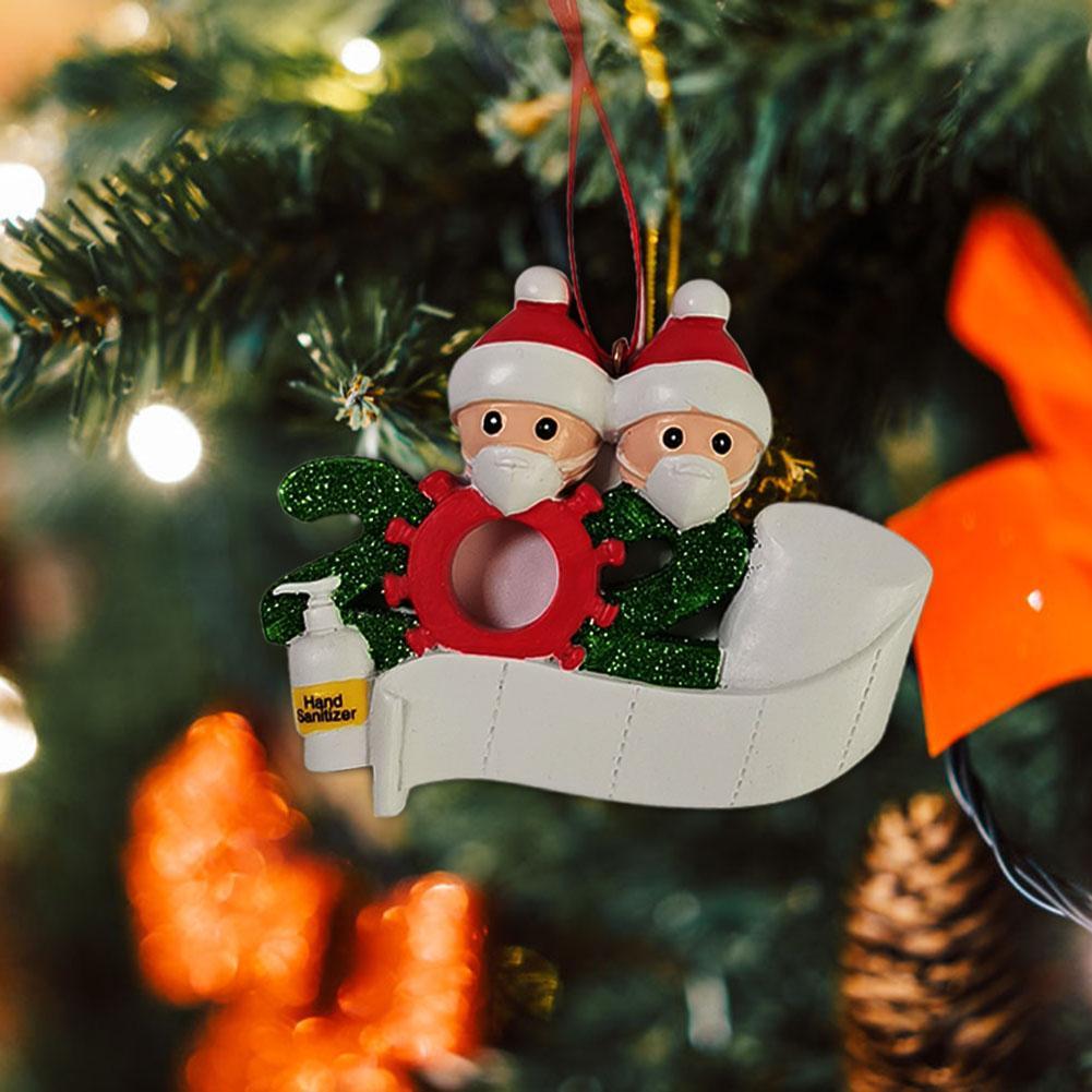 Xmas висячие украшения 2020 Очаровательной снеговика семья Форма подвеска партии висячего приукрашивание рождественских товары