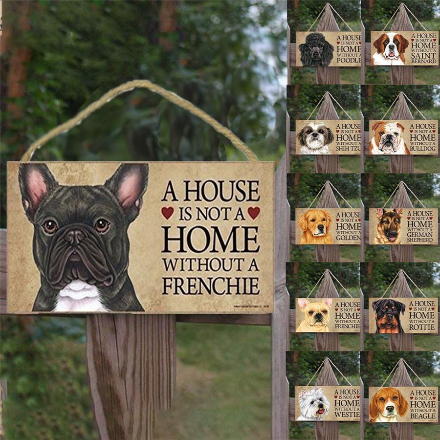 Dog Tags rechteckigen hölzernen Hund Zusätze reizender Freundschaft Animal Sign Plaketten Rustikal Wand-Dekor Dekoration HHC2145