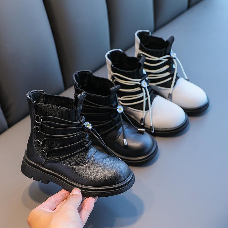 Зимние детские сапоги для девочек мальчики плюшевые сапоги Martin повседневная теплые лодыжки обувь детские модные кроссовки детские снежные ботинки