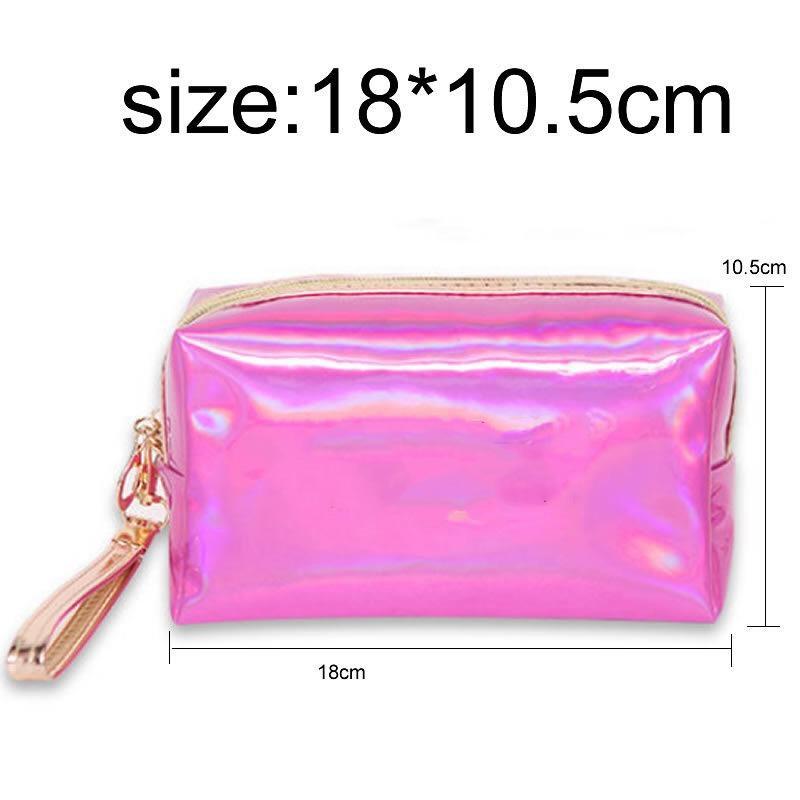 bolsas de maquillaje cosmético del bolso bolso de la letra holograma láser cosmético compone bolsas bolsa de gran capacidad de almacenamiento resistente al agua de lavado tolitery CALIENTE