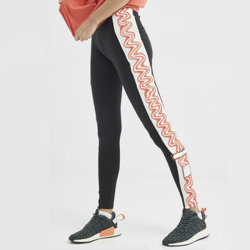 Femmes actives Pantalon de yoga Trois mode Motif Lettre rayé active Joggers rapide Sweatpants sec Femmes de haute qualité