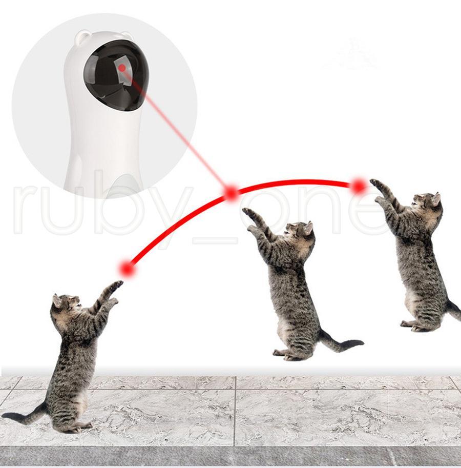 Automatique en rotation infrarouge laser drôle chien chien infrarouge laser jouet laser à quatre vitesses en mode rotatif distance laser ajustable chat jouets rra3587
