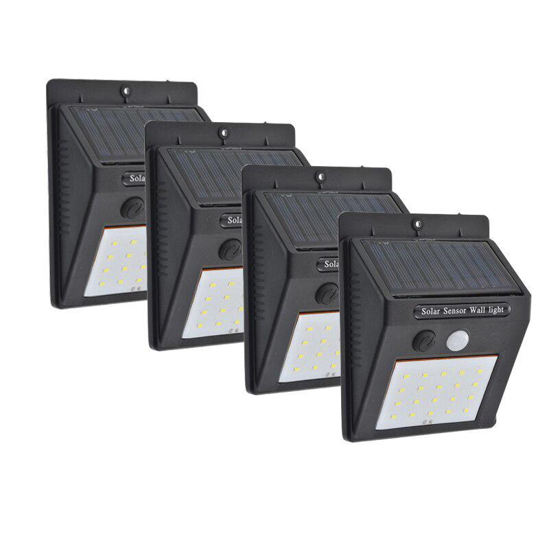 Lampade solari a LED PIR Sensore di movimento Illuminazione per esterni IP65 Applique impermeabile per il giardino Parcheggio Patio Mini Street Lamp