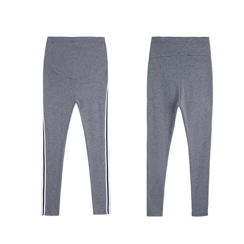 Kadın Tayt Hamile Kadınlar Için Hamile Pantolon Giyim Yan Çizgili Sizeam Sweatpants Comfy Boş Zaman Gebelik Tayt