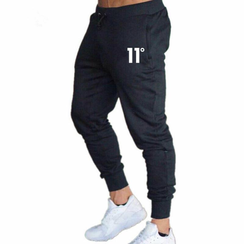 Mens casuali dimagriscono pantaloni sport maschio palestra Cotone Skinny jogging Pantaloni felpati Pantaloni della tuta