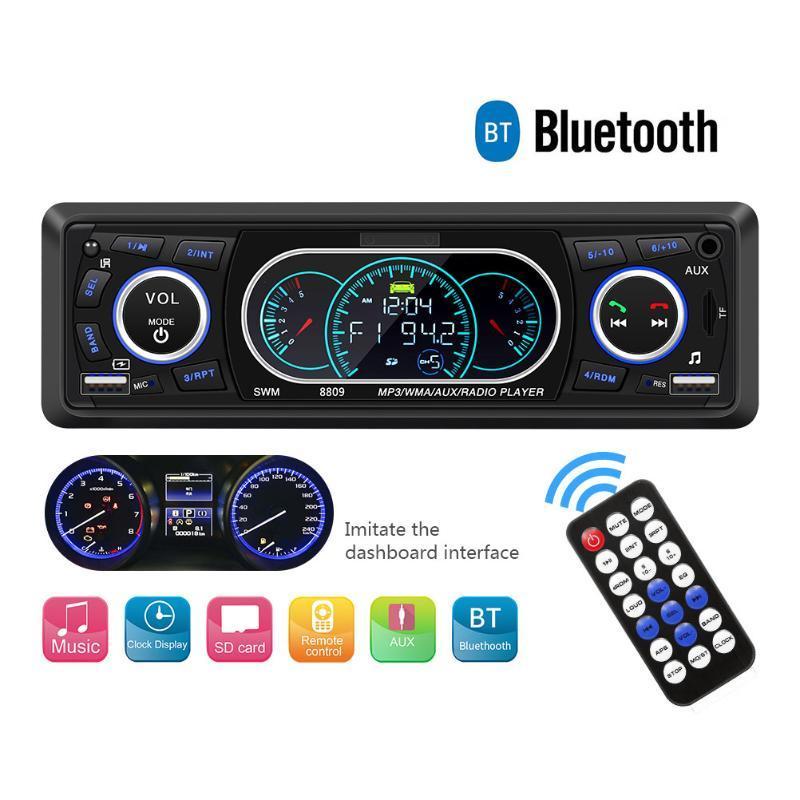 12V العالمي للسيارات بلوتوث راديو FM ستيريو السيارات مشغل موسيقى MP3 AUX الإدخال الصوت حر اليدين دعوة USB
