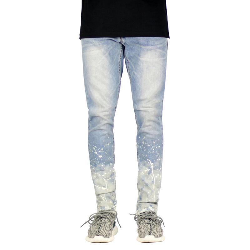 2020 Yeni Sonbahar Moda Erkek Kot Pantolon Yüksek Kalite Pamuk Pantolon Gündelik Patchwork Skinny Gradient Renk Jeans Erkek Giyim