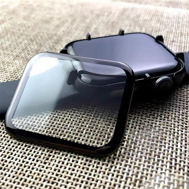 Protetor de tela de capa completa curvada para iWatch 6 SE 5 4 3 PMMA ScreenProptector 38 40 42 44mm Huawei Samsung Xiaomi Watch