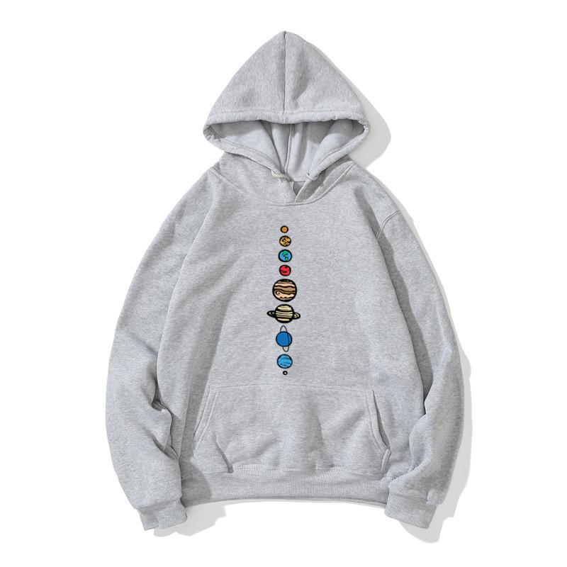 2020 Automne Hiver chaud Toison haute qualité couleur Planètes hommes Hoodie Sweatshirts Creative Design Mode drôle de remise en forme Hoodies