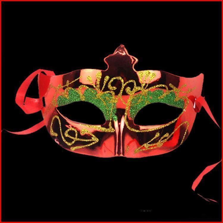 Venetian maioria Tamanho Metade colorida) Glittear (sortidas Princesa Fit Mardi Masquerade Um Halloween Gras Beleza Bola da máscara do príncipe Ogdaw
