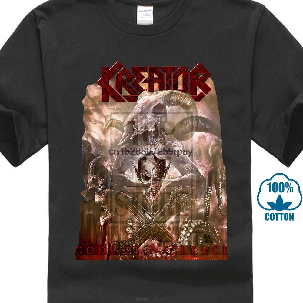 Kreator Gods Of Violence Shirt S M L Xl offizielles T-Shirt Thrash Metal-T-Shirt New O Ansatz Whites Boy Cotton Jugend