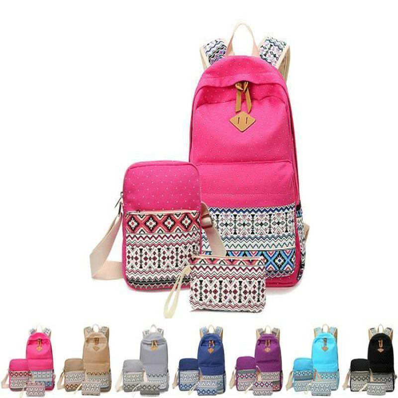 E Bookbag Lightweight adolescente rosa da menina Pen Escola e Caso brilhante com sacos de ombro para Backpack Bag Canvas Student Boy sqcfE Laptop
