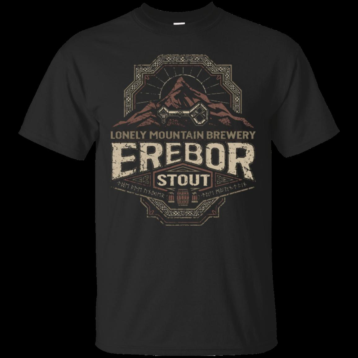 Imprimé hommes T-shirt T-shirt de coton Erebor Stout O-Neck manches courtes T-shirt