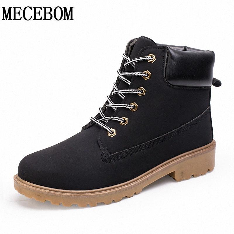 Hot sale big size39-46 Men's winter snow boots high-top lace-up man fur casual shoes plush inside warm ankel boots g-3 Hdnr#