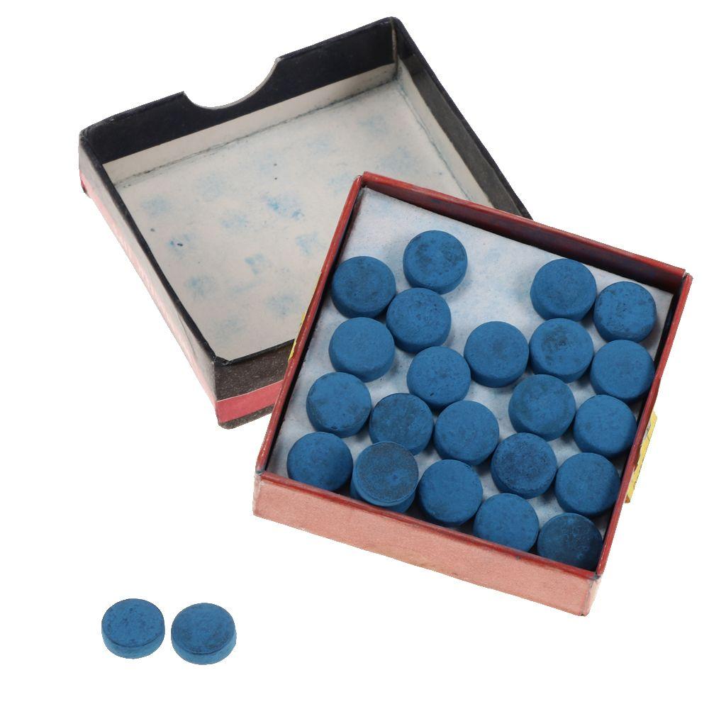 Tips 50 Piezas durable de billar estándar de reemplazo Consejos Snooker Cue Cue palillo de piscina con la caja