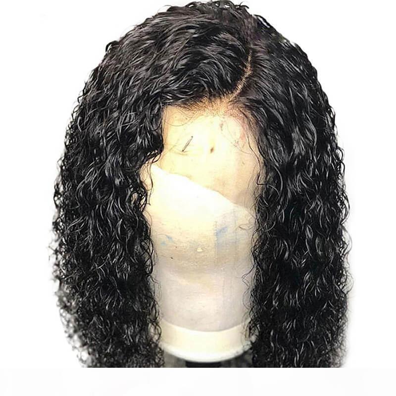 Кудрявый парик бразильского шнурок для чернокожих женщин Pre щипкового Glueless Полной плотности Богородица человеческих волос курчавого полных парики шнурок младенец Волоски