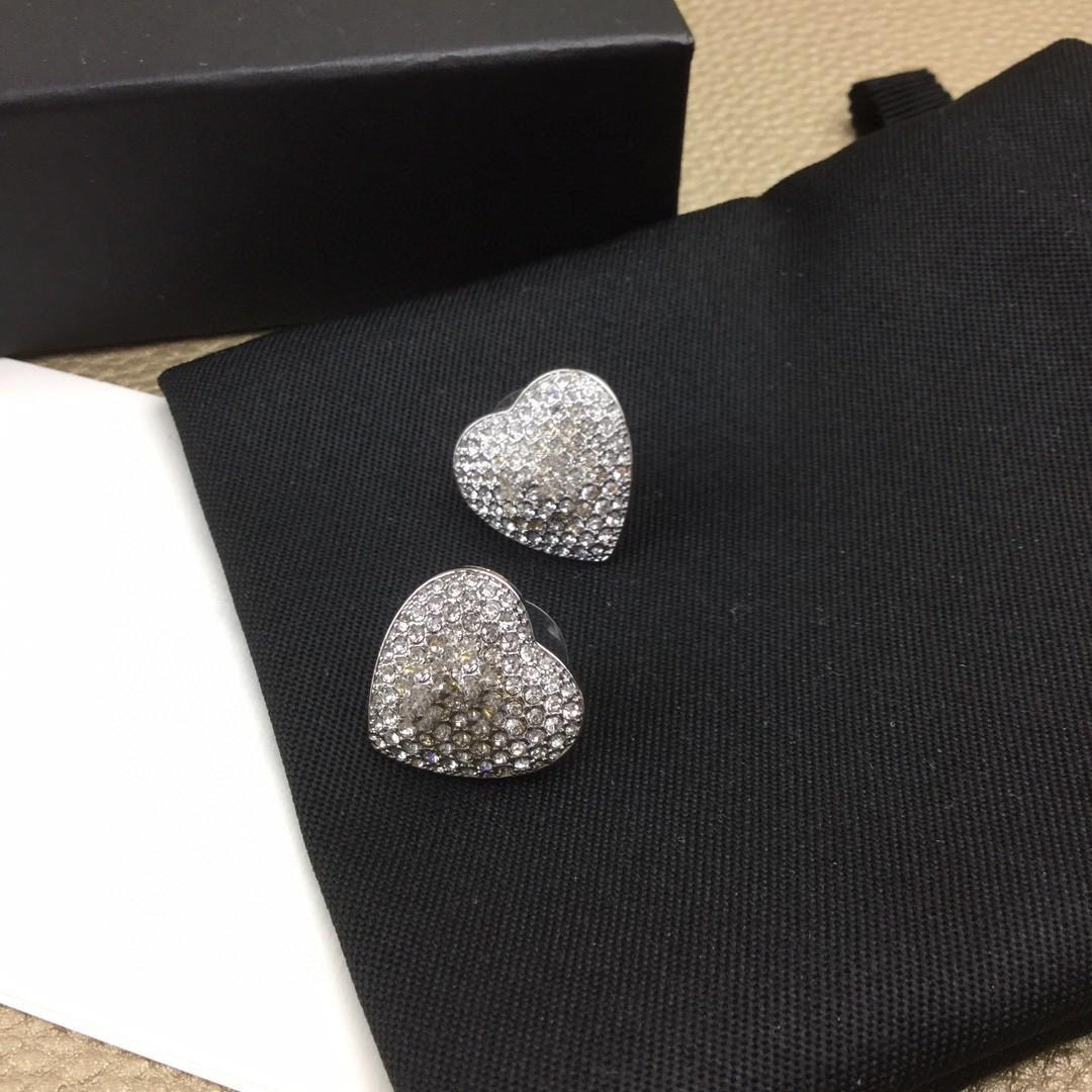 Neue Luxus volle Diamantgoldbuchstaben C Quer Designer Ohrringe Luxus-Designer-Schmuck Frauen Ohrringe