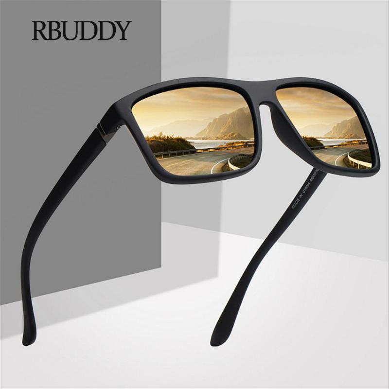 RBUDDY Polarize Güneş Gözlüğü Erkek Marka Vintage Sürücü Sürüş Hareketi Güneş Gözlükleri Erkekler Sürücü Emniyet UV400 Gözlükler koruyun
