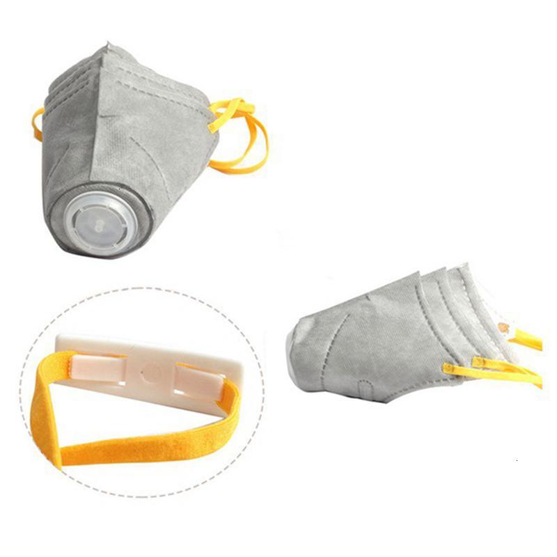 Maschera respiratoria 6pc domestico del cane di fronte molle Cotone PM2.5 Bocca filtro antipolvere Gas Inquinamento Muso anti-nebbia opacità Maschere per cani