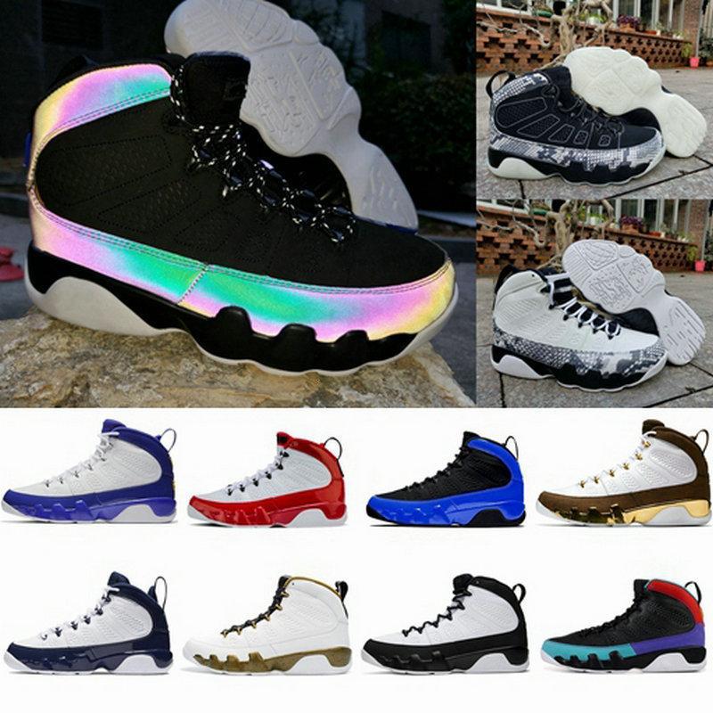 3M reflectante Jumpman 9s camaleón corredor azul Bred 9 zapatos de baloncesto Sóñelo hacerlo Gimnasio Rojo UNC para hombre de piel de serpiente entrenadores deportivos zapatillas de deporte