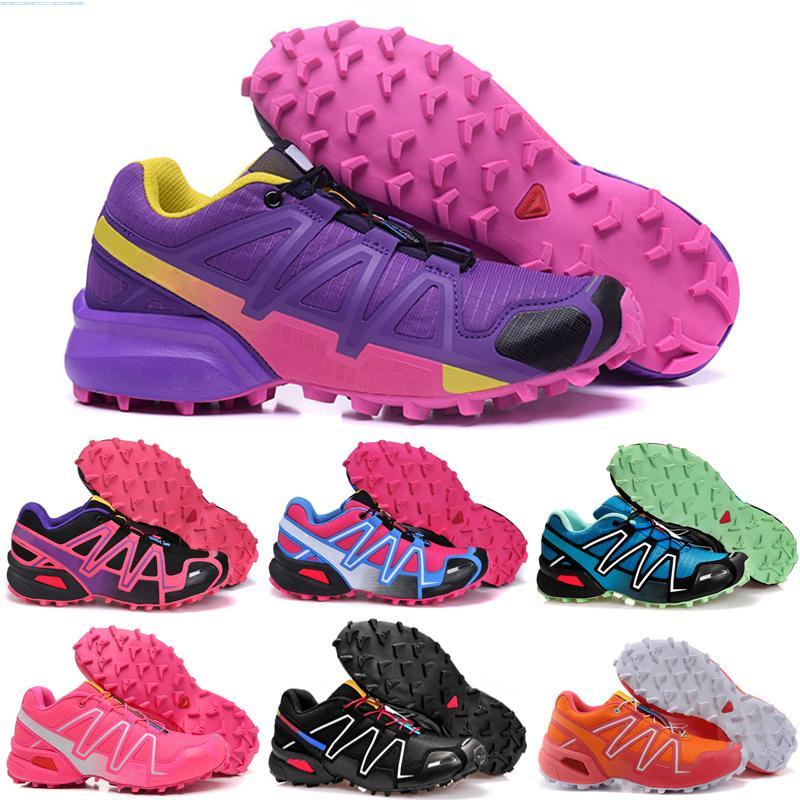 Salomon Speed Cross 3 4 casuale Speed Cross country 4 CS IV Men Running Scarpe Tempo Libero Walking Jogging Sneakers Athletic Shoes Speedcross 4 scarpe Scherma taglia 36-45