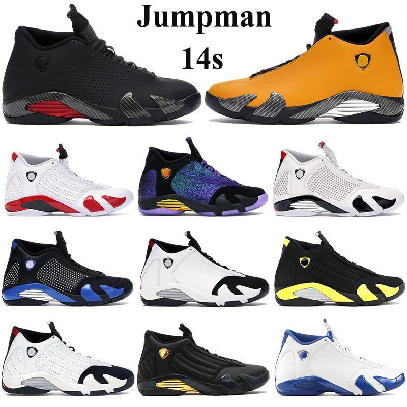 2020 zapatos de baloncesto de Jumpman 14s hombres zapatillas de deporte negro antracita Universidad de Oro último disparo zapatos atléticos del bastón de caramelo indiglo Formadores
