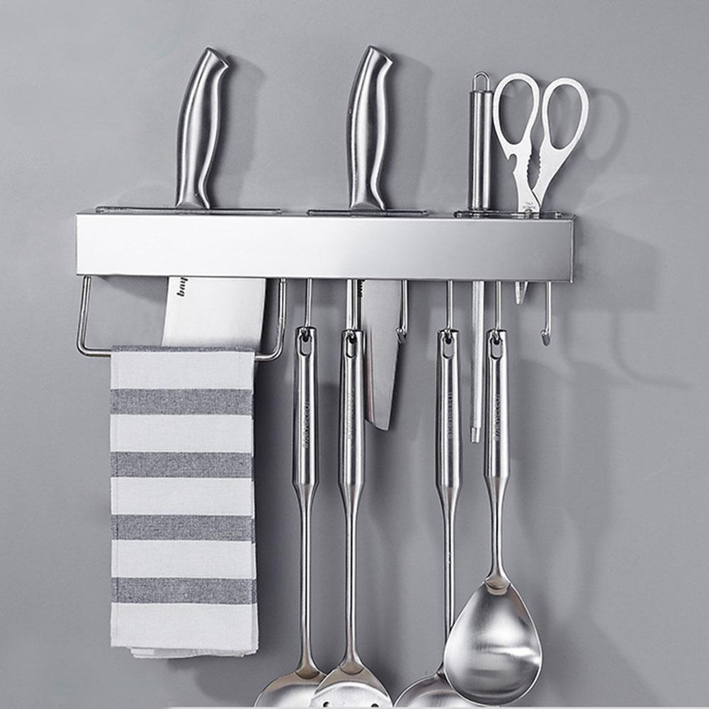 2020 Wall Mounted Kitchen Utensil Holder Durable Storage Stainless Steel Cutlery Rack From Sunflower42 18 84 Dhgate Com