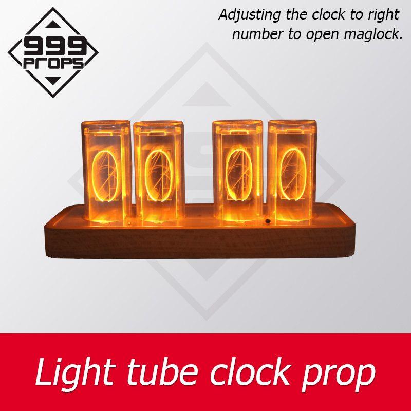 Fluchtraum prop Lichtröhre Uhr das Rohr richtige Anzahl an offenen Maglock Flucht Spielgeräte Uhr prop Einstellung