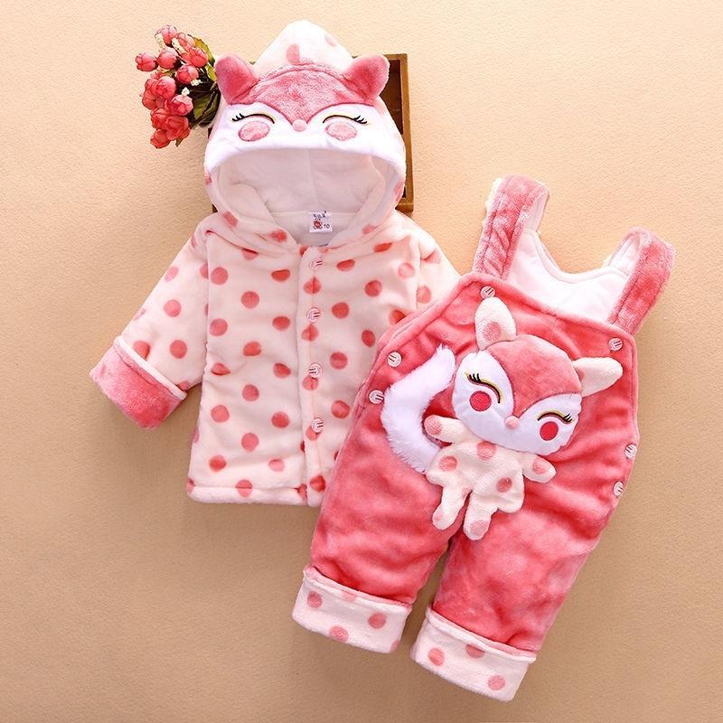 conjunto infantil Meninos Meninas Vestuário dos desenhos animados Calças com capuz Bebes Boy Clothes menina do esporte Define Natal recém-nascido roupa