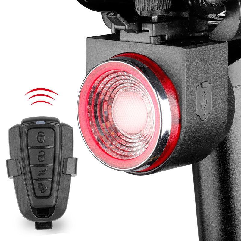 Vélo Lampe arrière Freinage Lumière alarme anti-vol Appel à distance LED de contrôle sans fil lanterne sirène Selle Tige de selle Double Mont Y200920