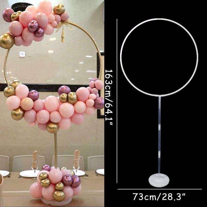 Воздушные шары рамка 163x73 см Окружность Balloon Arch Stand Holder Kit Свадебные украшения Ба гагара Birthday Party Baby Shower Ballon Decor